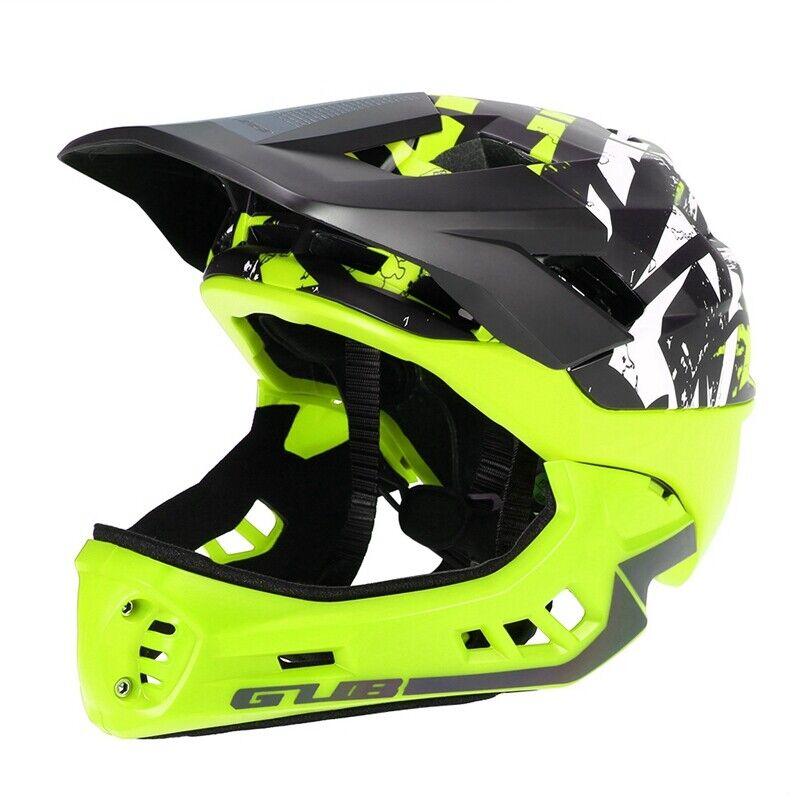 GUB Desmontable Casco de Bicicleta de Cara Completa Casco para Niños con Lu G5M7
