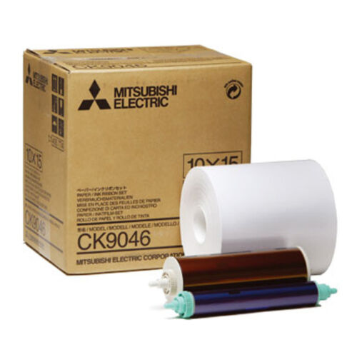 "Mitsubishi 4x6/"" Paper Roll and Inksheet for CP-9550DW #CK-9046 600 Prints"