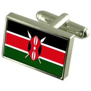 Kraftvoll Kenia Flagge Manschettenknöpfe Select Gifts Beutel