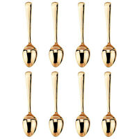 Gold Plated Demitasse Spoon Set For 8 High Tea Coffee Demi Tasse Plain Japan