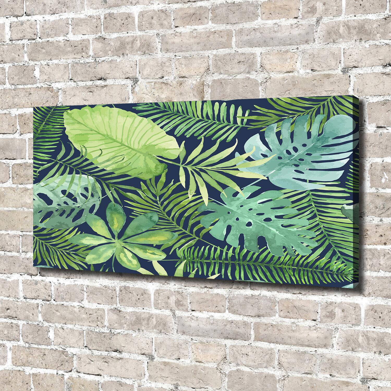 Leinwandbild Kunst-Druck 140x70 Bilder Blaume Pflanze Tropische Blätter
