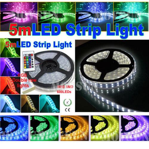 5M 300//600led Non//Waterproof  IP65//IP67//IP68 5050SMD Flexible Strip Light 12//24V