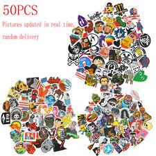 50pc Vinyl Skateboard Guitar Travel Case Stickers pack decal Random  sticker
