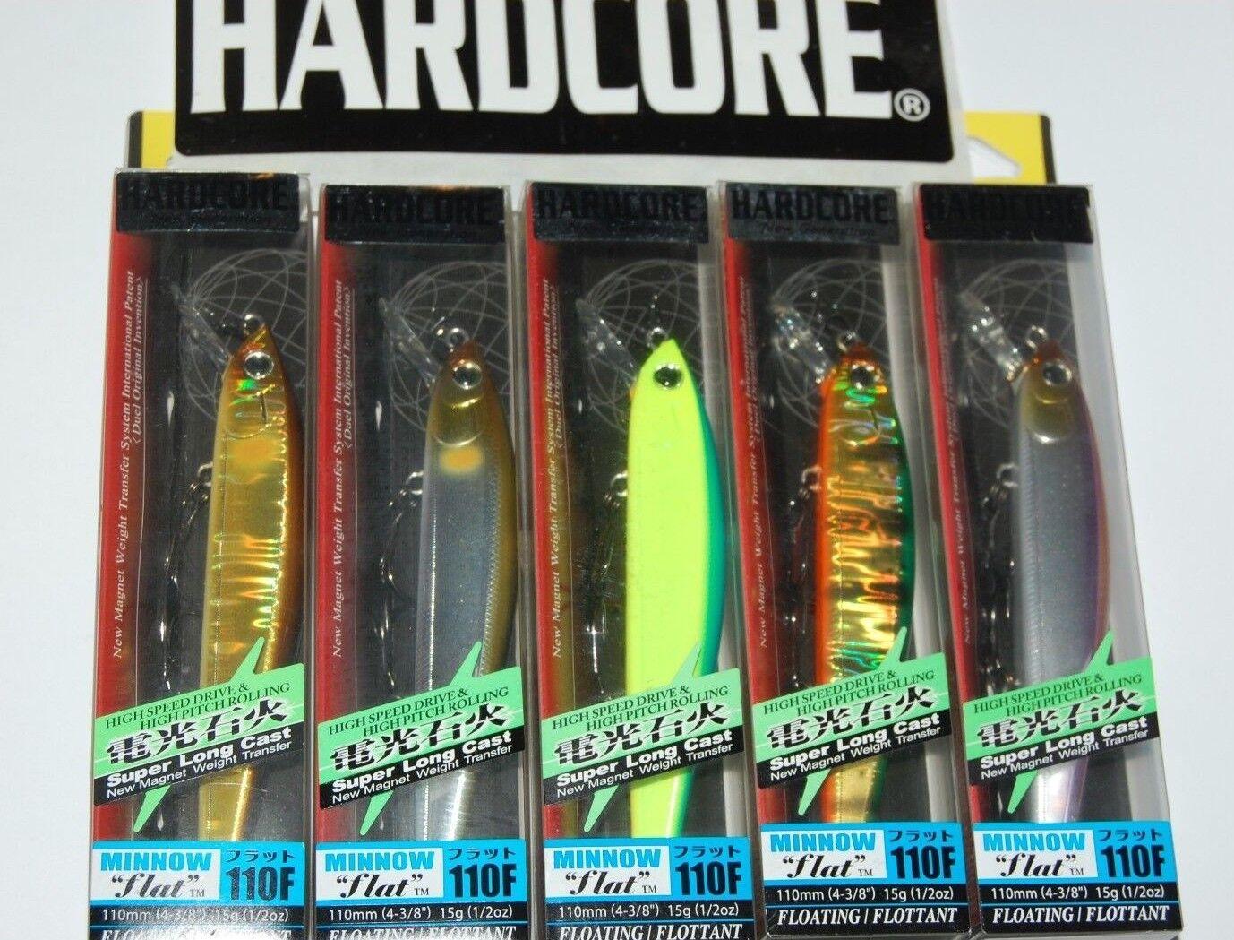 5 lures yo zuri duel hardcore flat minnow  110f 4 3 8  1 2oz  f1071 assortment  lightning delivery