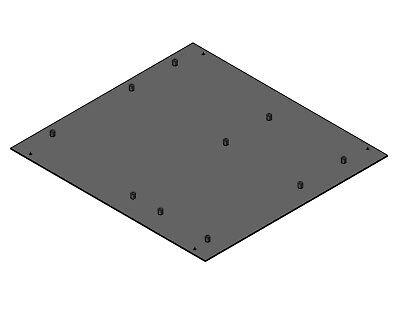 """Mini-ITX Aluminum Motherboard Tray w// standoffs 6.75/""""x6.75x0.090/"""""""