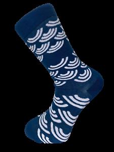 Frederick-Thomas-navy-blue-mens-socks-with-white-rainbow-design