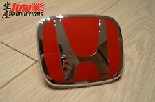 GENUINE HONDA TYPE R RED FRONT GRILLE BADGE FOR CIVIC EP3 EP2 PREFACE 2001-2003
