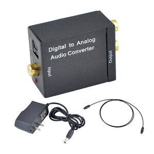 digital toslink optical coaxial to analog rca l r audio converter fiber cable ebay. Black Bedroom Furniture Sets. Home Design Ideas