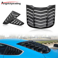 Rear Amp Side Window Scoop Louvers Sun Shade Cover Fit For Ford Mustang 2015 2021 Fits Mustang