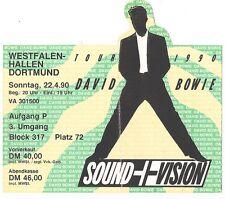 David Bowie    In Concert 1990    Ticket / Konzertkarte / Eintrittskarte