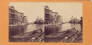 Venezia Grand Canal Da L Accademia Italia Vintage Albumina Ca 1860