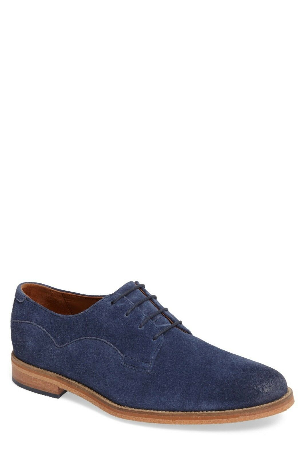 J Shoes Indi Buck Derby, Suede Plain toe, Open lacing Topstitched Size 10.5  198