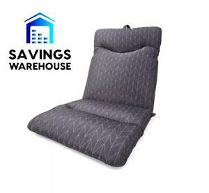Highback Cushion Outdoor Setting Seat Lounge Sun Chair UV ☀ Water Resist 💦 Grey