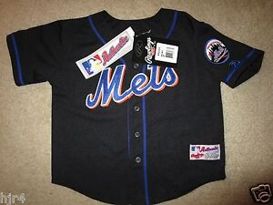 a5ae17493 New York Mets MLB Black Rawlings Jersey Toddler 4T New deadstock