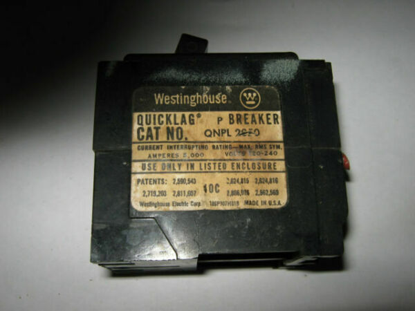 Westinghouse MG-5502 Quicklag Circuit Breaker 60 Amp 2 Pole MG5502