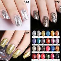 Diamond Glitter Shiny Finish UV Gel LED Nail Soak Off Polish Base Coat Manicure