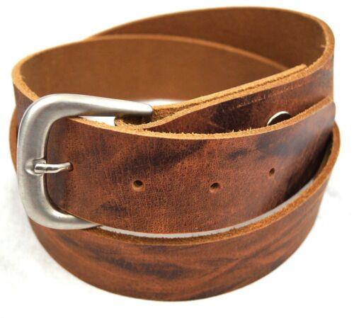 Gürtel Wechselgürtel Buckle Schnalle Echt Leder Wasserbüffel Vintage bis 125 cm