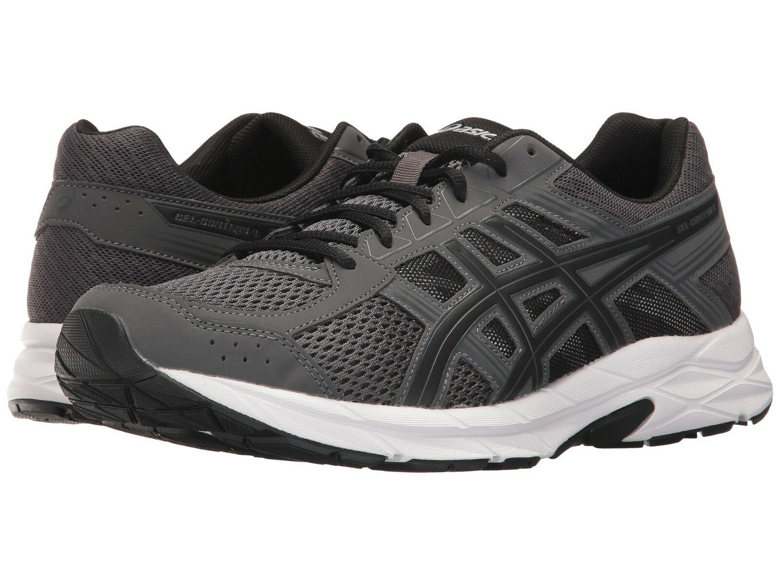 Asics Gel Contend 4 Grey/Black/Carbon Men's Running Shoe Dark Grey/Black/Carbon 4 Size 11 0be1b3