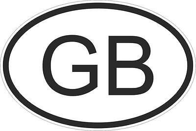 Autoadesivo Bandiera Ovale Codice Auto Uk Uk Gb
