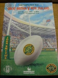 16101993 Rugby League Programme Great Britain v New Zealand At Wembley fol - Birmingham, United Kingdom - 16101993 Rugby League Programme Great Britain v New Zealand At Wembley fol - Birmingham, United Kingdom