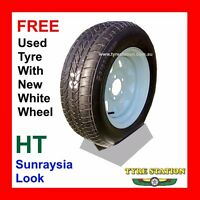 Sunraysia Look 14x6 Ht Hub Boat Trailer Wheel With Free Secondhand Tyre