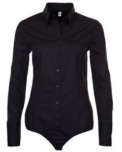 Damen-Stretch-Body-Bluse-schwarz-Seidensticker-Schwarze-Rose-SB-92-Slim-34-46