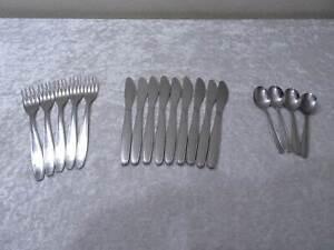 18-tlg-DDR-Design-ABS-Rostfrei-Besteck-Konvolut-Vintage-um-1980