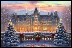 Christmas-at-Biltmore-Chart-Counted-Cross-Stitch-Pattern-Needlework-DIY-DMC
