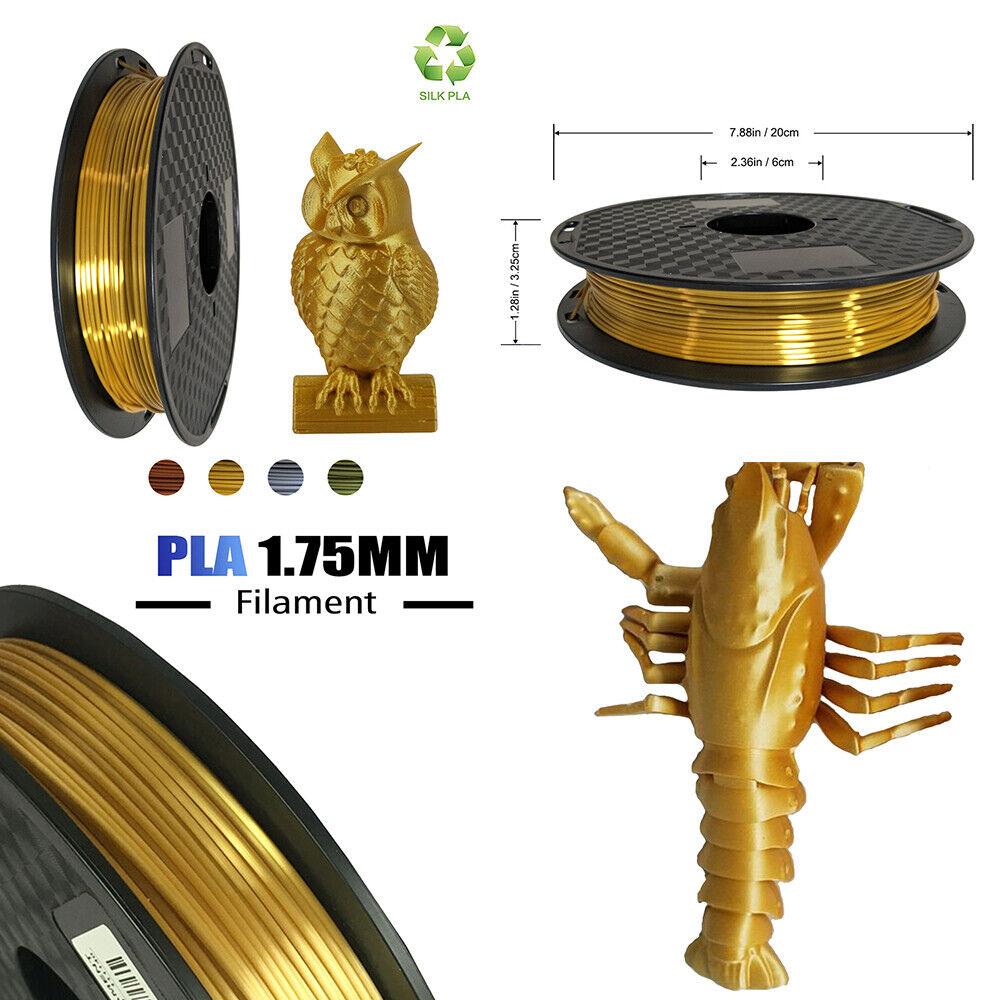 0.5Kg Spool Pla Filament 1.75mm - Kupfer / Silber / Silk Gold / Bronze