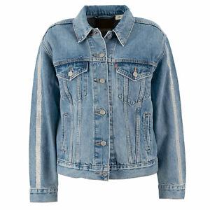 Details zu LEVI'S Damen Jeansjacke 72749 0000 Boyfriend Trucker Diamond M + L Jacke