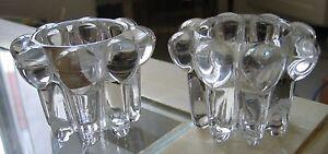 2 Bougeoirs En Cristal De Reims