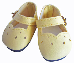 """Yellow Slip On Dress Shoes Fits Wellie Wishers 14.5/"""" American Girl Clothes Shoes"""