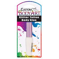 Custom Body Art - 7ml Bottle Of Glitter Tattoo Body Glue With Applicator Brush