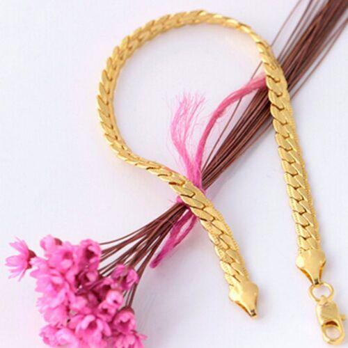 Délicat Hommes Femmes Bracelets or 18K Cuivre Plaqué Chaîne Bijoux Charms couple