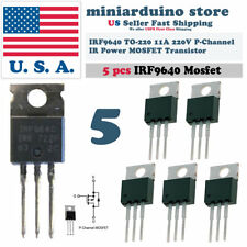 5pcs Irf9640 Irf 9640 Power Mosfet 11a 200v To 220 Ir P Channel Transistor