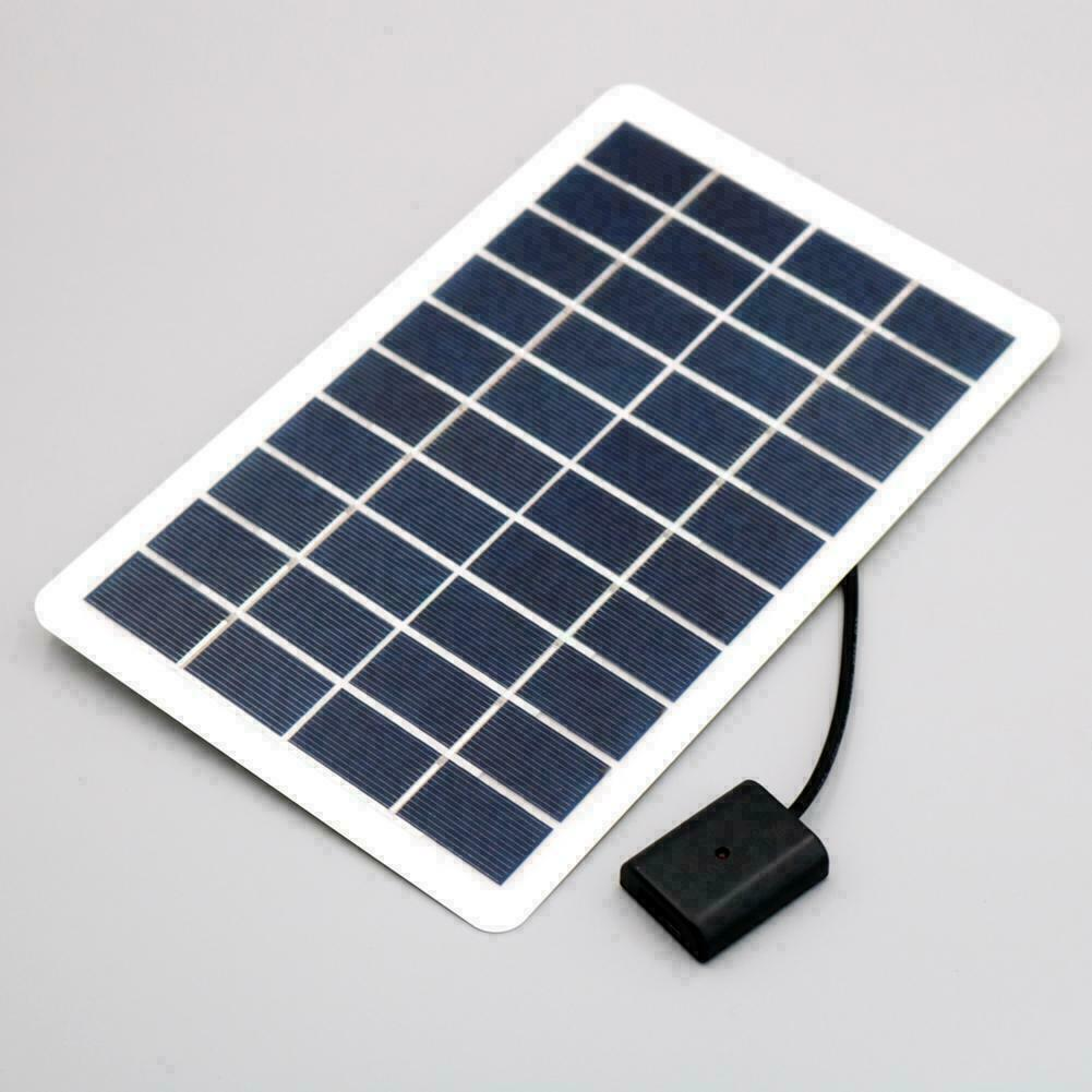 5W USB Silicon Solar Panel For Phone Power Bank Battery V0B2 Board Charging G9J4