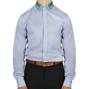 Alexander-McQueen-Light-Blue-Fine-Cotton-Contrasting-Silk-Collar-Shirt-IT50-UK40