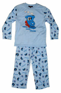 Kinder-Jungen-Pyjama-Schlafanzug-Pyjama-Set-Langarm
