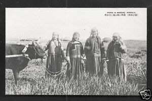 Mongolia Women Costume Cow Taisho 20s