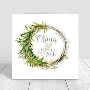 WEDDING-INVITATIONS-Personalised-Folded-Christmas-Wreath-Collection-Pk-5