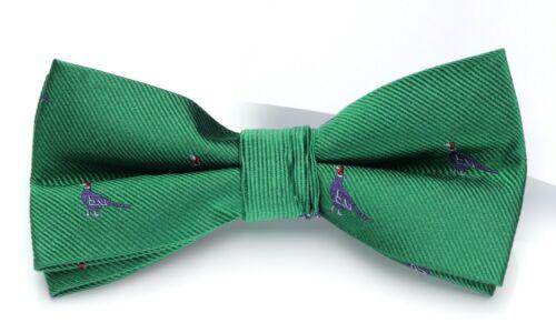 Laksen Pheasant Logo Silk Bow Tie