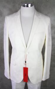 HUGO BOSS Completo Arti Hesten 182 Tg. 48 M Bianco Smoking Mimetico Suit 38R