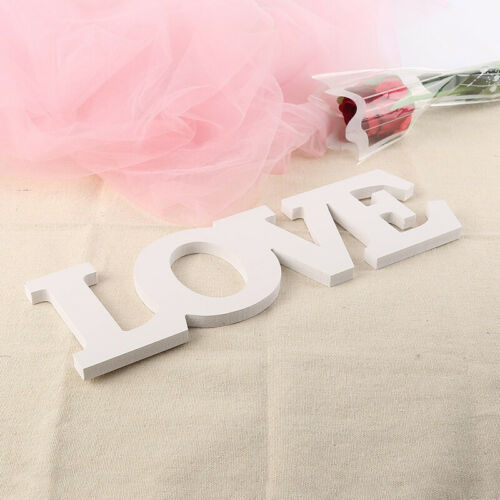 Wooden White Letter LOVE LAUGH LIVE Sign Plaques Wedding Party Home Decor 13US