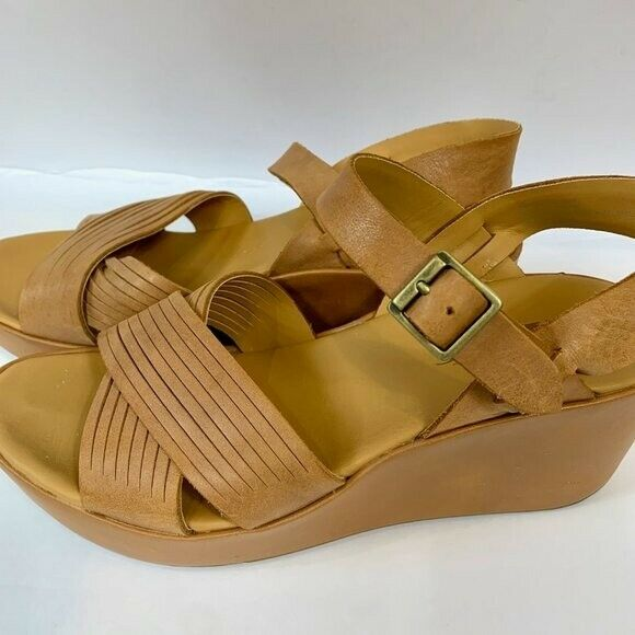 Korks Leather Wedge Martinique Strappy Sandals 7 - image 4