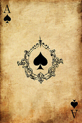 """Playing Card Poster Queen of Spades #6 Canvas Art Poster 16/""""x 24/"""""""