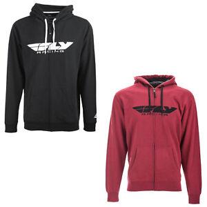Pink Choose Size Fly Racing Offroad Womens CORPORATE Zip-Up Hoodie Sweatshirt