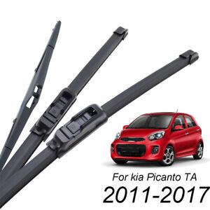 Front-Rear-Windshield-Wiper-Blades-Left-Right-Set-For-Kia-Picanto-MK2-2011-2017