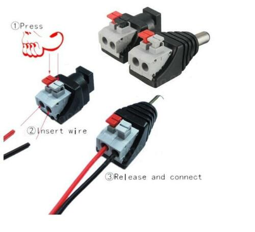 DC Power Male Female 5.5 X 2.1mm Connector Adapter Plug Cable LED Strips 12V