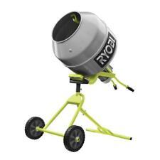 Portable Concrete Mixer Cement Electric Ryobi Direct Drive Motor Tool 12 Hp New