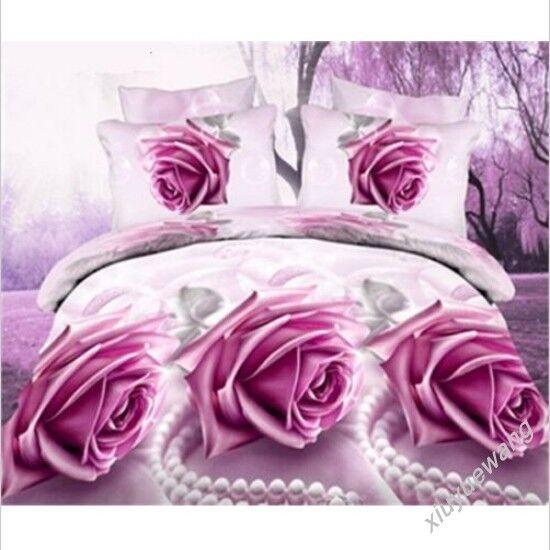 Cotton 3D Floral Cartoon Bed Sets Duvet Cover   Pillow Case   Sheet Bedding New